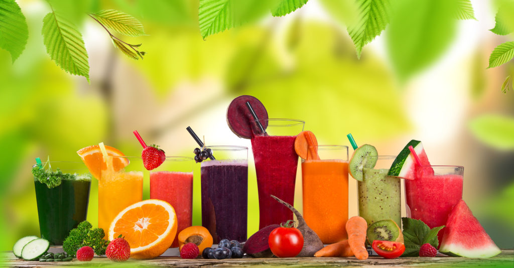 Glasses of fresh Juice Juicing To Lose Weight